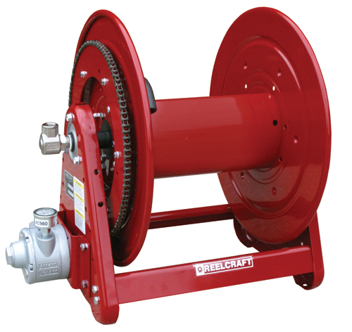 Aa32112 l4a reelcraft 1 2 x 200ft 1000 psi without hose for Air powered gear motor