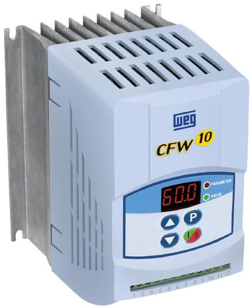 Cfw100073sdplz weg variable frequency drive single phase for Single phase motor vfd