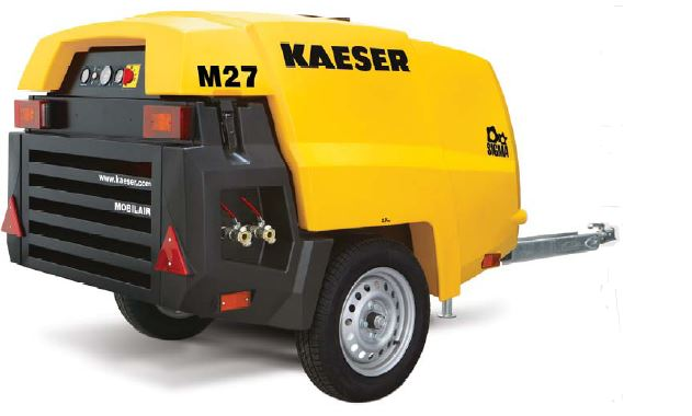 M27 Kaeser Portable Air Compressor 92 Cfm 100 Psi