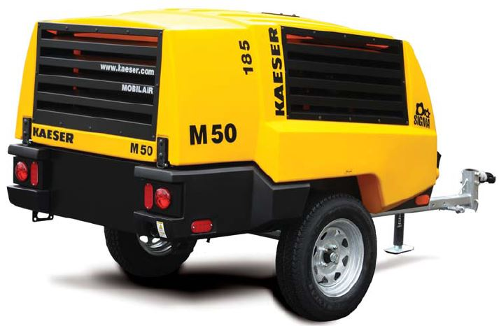 Kaeser.M50 m50 kaeser portable air compressor (185 cfm, 100 psi, diesel , tow  at gsmportal.co
