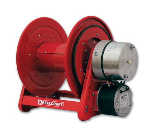 Le312 103 12d reelcraft motor driven cord reel 200 feet for 12 volt hose reel motor