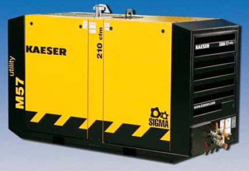 M57 Utility Kaeser Portable Air Compressor 210 Cfm 100