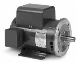 Vl1303 baldor single phase c face motor odp 56c frame 1 for Baldor 2 hp single phase motor